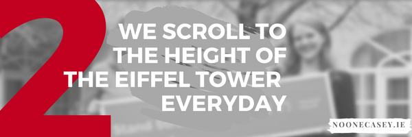The Average Person Scrolls on Social Media to the Height of the Eiffel Tower - Everyday